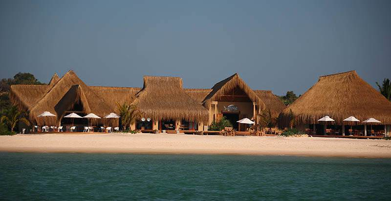 The exterior of Azura Benguerra Island in Mozambique.
