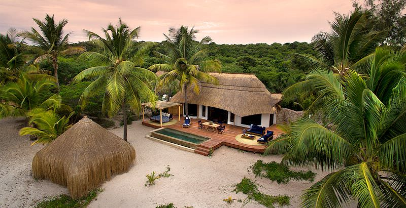 An extravagant private villa at andBeyond Benguerra Island.