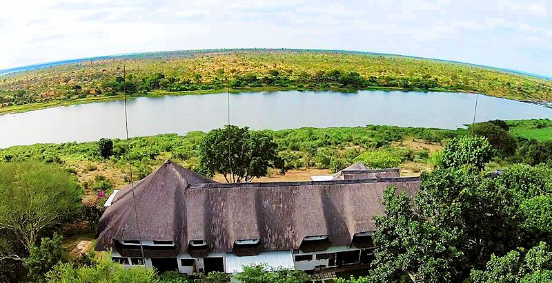 Buhala Lodge overlooks the Kruger National Park's perennial Crocodile River.