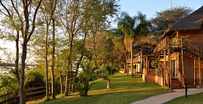 Chobe Marina Lodge's units enjoy views across the majestic Chobe River.
