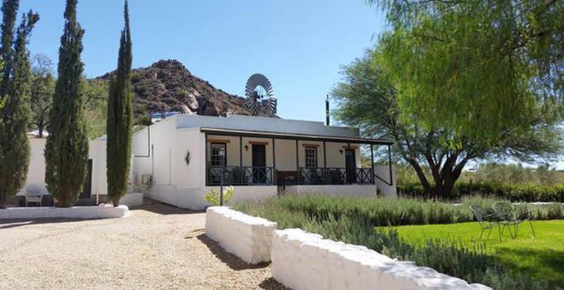 The traditional farmstead at Dennehof Guest Farm in the Little Karoo town of Prince Albert.