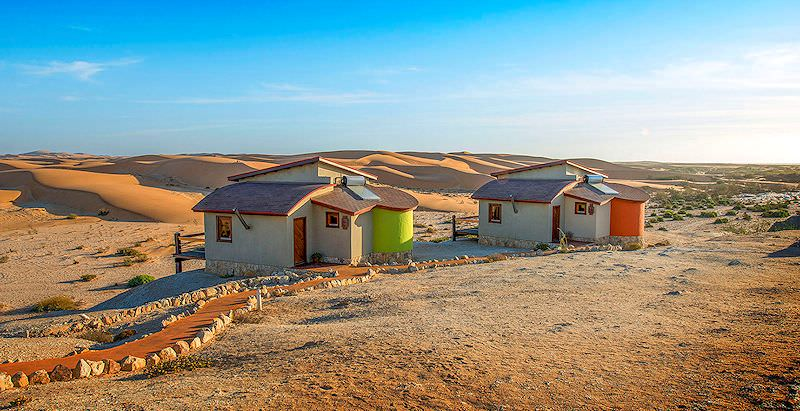The exterior of the units at Desert Breeze Lodge outside Swakopmund.