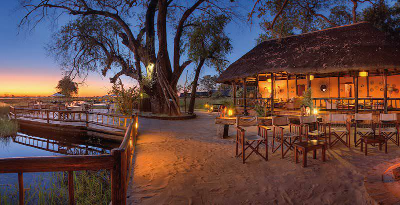 An idyllic sunset at Eagle Island Lodge in the Okavango Delta.