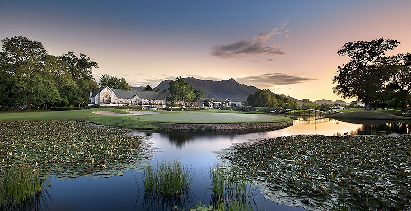 The Fancourt Hotel overlooks the water features of the estate's illusrious golf courses.