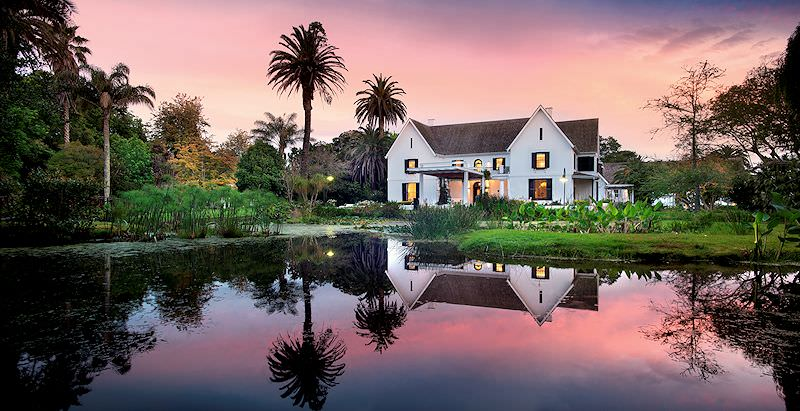 Fancourt Manor House overlooks a small vlei on the illustrious estate for which it is named.