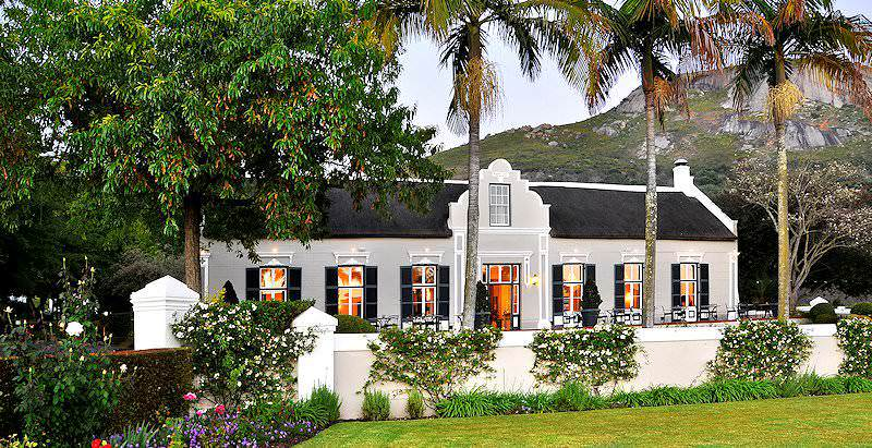 The Grande Roche Hotel is characterized by its traditional Cape Dutch architecture.