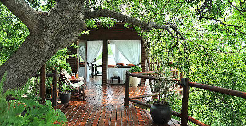 The secluded spa treatment sala at Leopard Hills in the Sabi Sand Private Game Reserve.