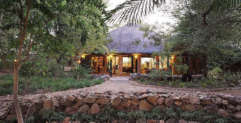 Motswari Lodge hidden amidst the encroaching wilderness of the Timbavati Private Game Reserve.
