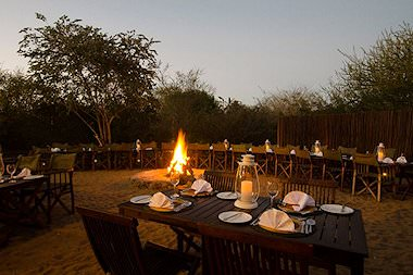 A boma evening at Shishangeni Private Lodge.