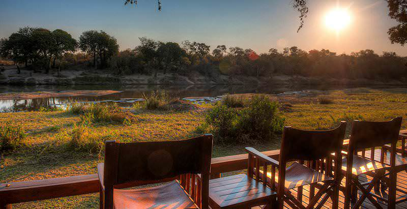 The view from Simbavati River Lodge in the Timbavati Private Game Reserve.