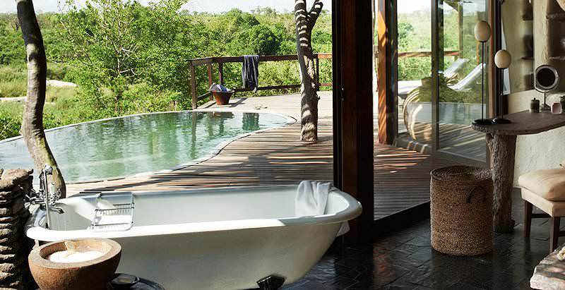 The suites at Singita Boulders boast spacious decks with large private pools.