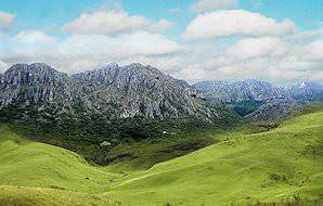 The craggy mountains of Chimanimani National Park.