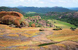 The bizarre rock formations of Matobo National Park.