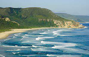 The rugged coastal beauty of the Garden Route is protected in the Tsitsikamma National Park.