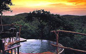 A private plunge pool at Phinda Rock Lodge