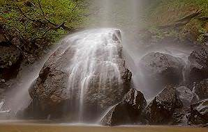 The misty veil of Bridal Veils Falls in Mpumalanga.