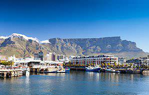 Table Mountain looms above the Victoria & Alfred Waterfront.