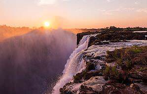 Devil's Pool occurs on the edge of the Victoria Falls.