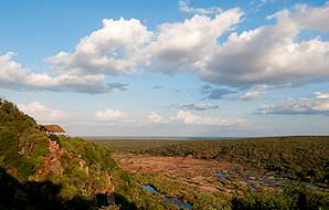 The view from Olifants Rest Camp in the Kruger National Park.