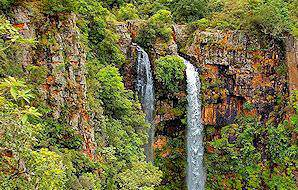 A side glance of Mac Mac Falls in Mpumalanga.
