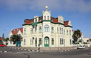 German colonial architecture in Namibia's Swakopmund.