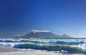 Table Mountain as seen from across Table Bay.