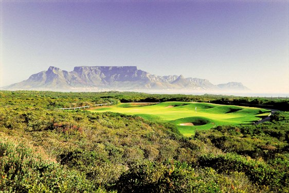 Atlantic Beach Golf Course boasts the finest views of Table Mountain from across Table Bay.