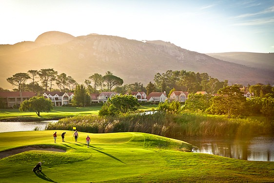 One of the many picturesque waterways scattered across Boschenmeer Golf Course.