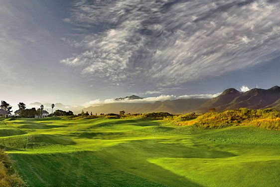 The Fancourt Links Golf Course boasts lush, undulating greens and fairways.