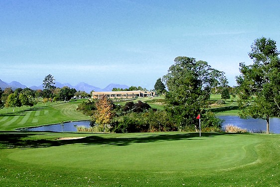 Shady trees are scattered along the parklands-style George Golf Course.