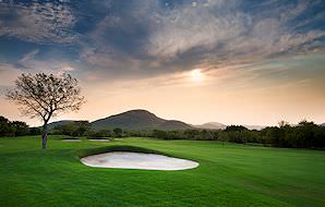 The immaculate Leopard Creek Golf Course on the edge of the Kruger National Park.