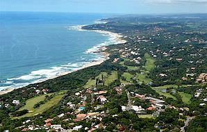 A bird's eye view of the Durban Country Club in KwaZulu-Natal.