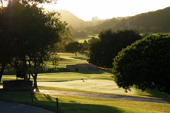 Morning light dusts the fairways of Plettenberg Bay Country Club.