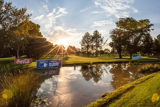 The exclusive Pretoria suburb of Waterkloof overlooking the Pretoria Country Club.