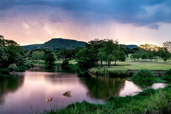 The golf course at the Sabi River Sun Resort.