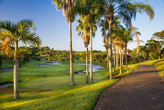 San Lameer Golf Course is dotted with sub-tropical vegetation.