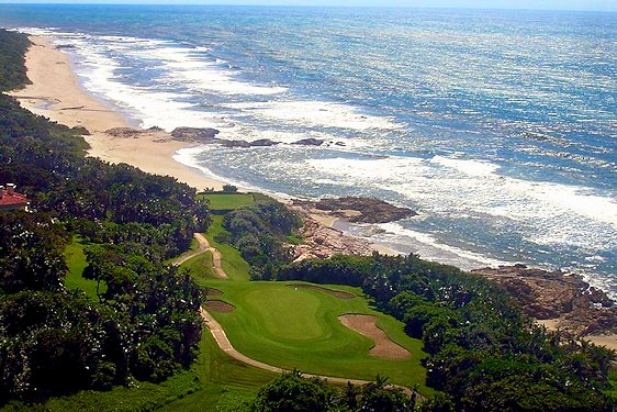 The Southbroom Golf Course overlooking the beach.