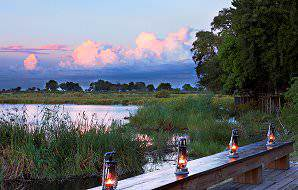 Kings Pool Camp overlooks the unique Linyanti Marsh in Botswana.