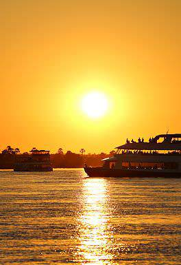 A sunset cruise on the prolific Zambezi River.