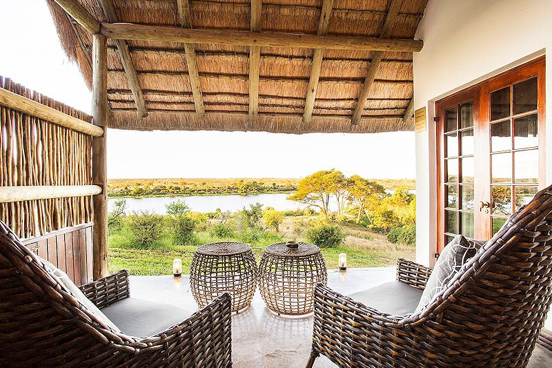 A private verandah at Buhala Lodge.