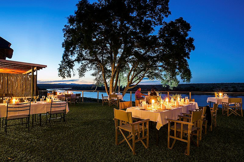 Dinner is served on the lawns at Buhala Lodge.
