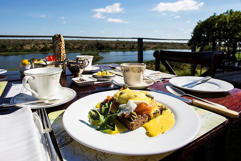Breakfast is served at Buhala Lodge.