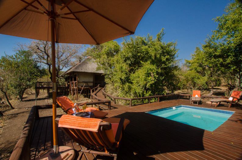The swimming pool at Camp Shonga in the Kruger National Park.