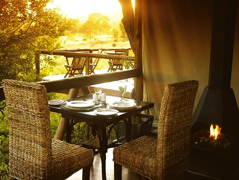 An intimate dining experience at Camp Shonga.