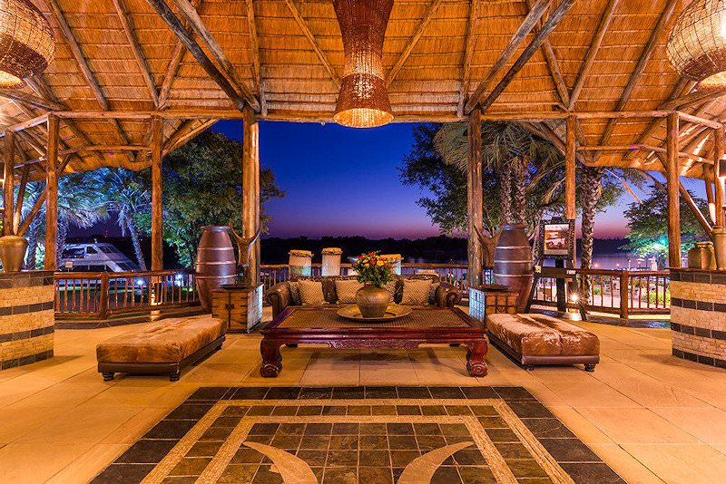 The lounge area of the David Livingstone Safari Lodge