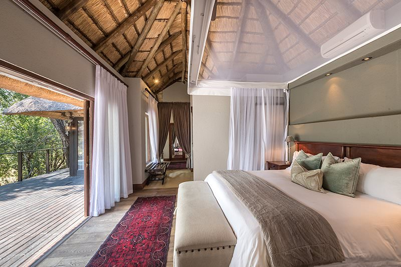 The interior of a suite at Dulini Lodge.