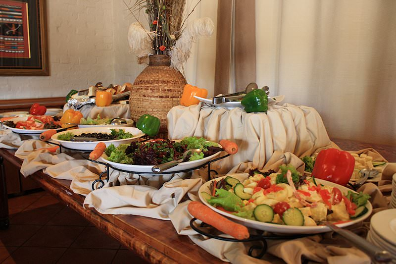 An inviting spread laid out for guests at lunch time.