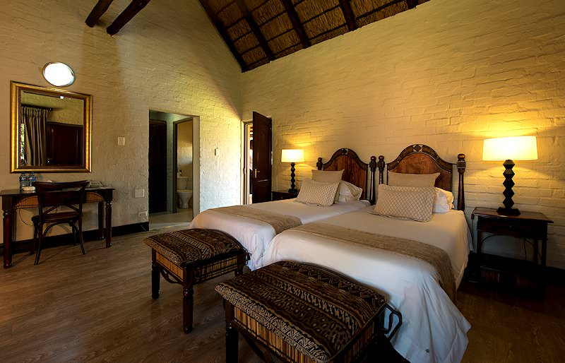 The interior of a bedroom at Entabeni Lakeside Lodge.
