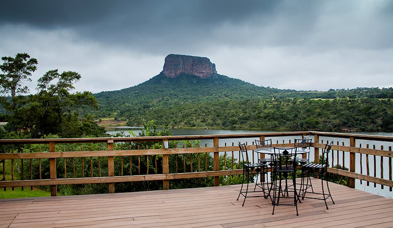 One of the viewing areas at Entabeni Lakeside Lodge.