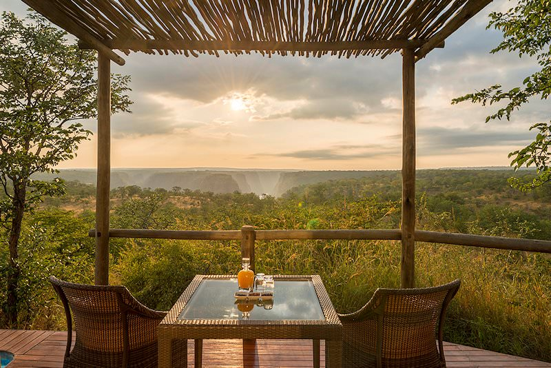 An intimate breakfast set up at Elephant Camp.